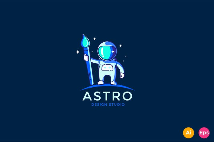 Thumbnail for Astronaut Design studio Logo Template