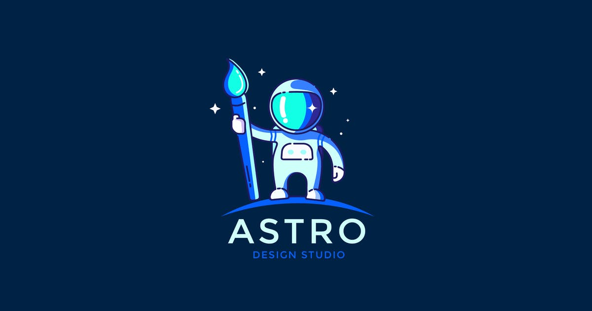 Download Astronaut Design studio Logo Template by NEWFLIX
