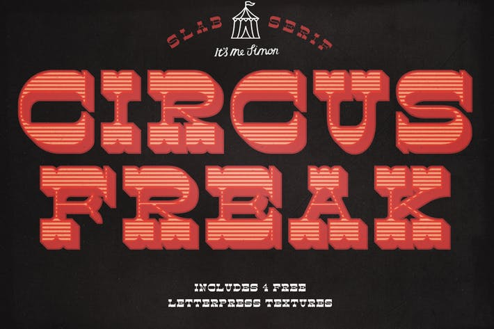 Thumbnail for Circus Freak Font