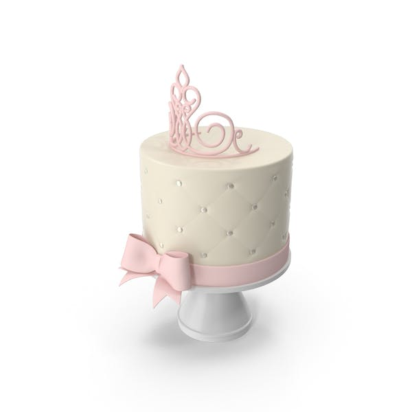 Princess Baby Shower Cake with Pink Crown and Bow