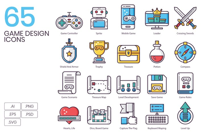 Thumbnail for 65 Game Design Icons