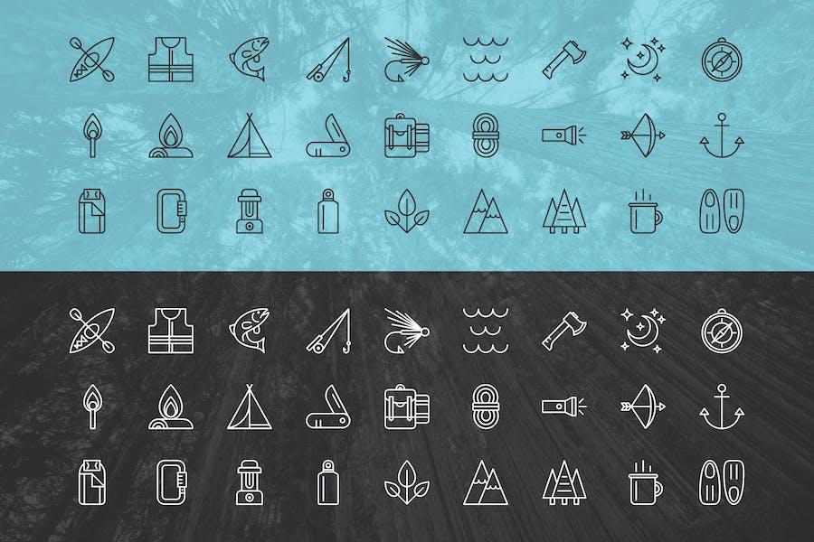 Outdoor Adventure Icons