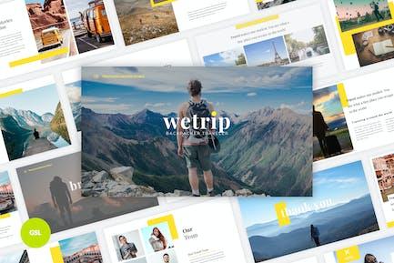 Wetrip - Backpackers Google Slides Template