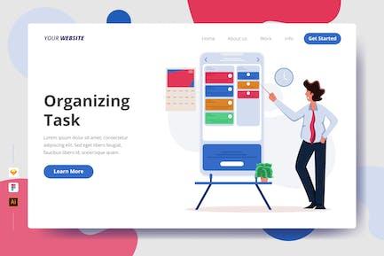 Organizing Task - Landing Page