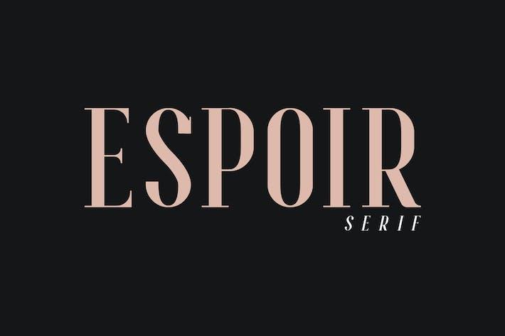 Thumbnail for Espoir Con serifa - Familia Tipográfica