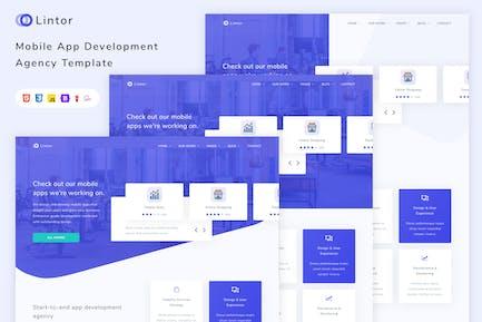 Lintor - Mobile App Development Agency Template