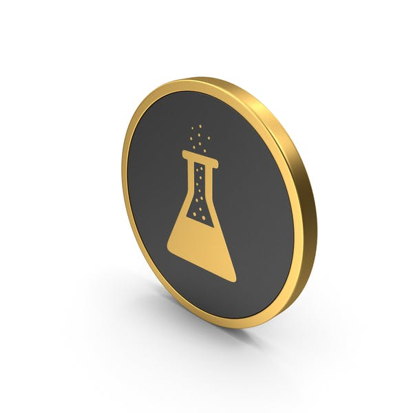 Icon Gold Erlenmeyer Flask with Bubbles