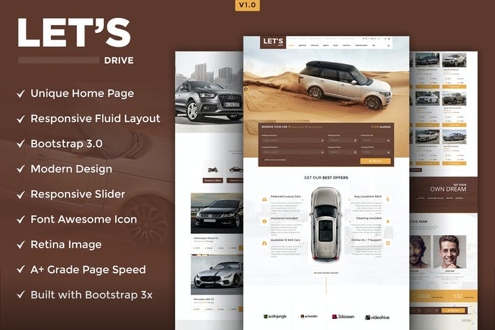 Download 29 retail website templates envato elements thumbnail for lets drive html5 template maxwellsz