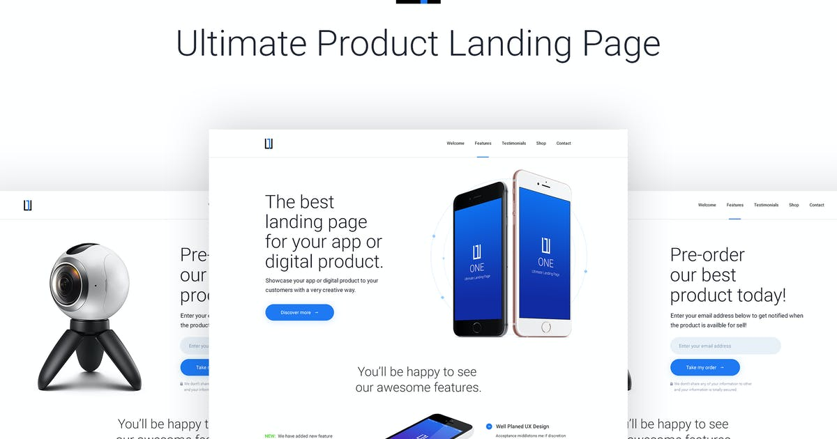 Download One - HTML Product Landing Page by teamuxtheme