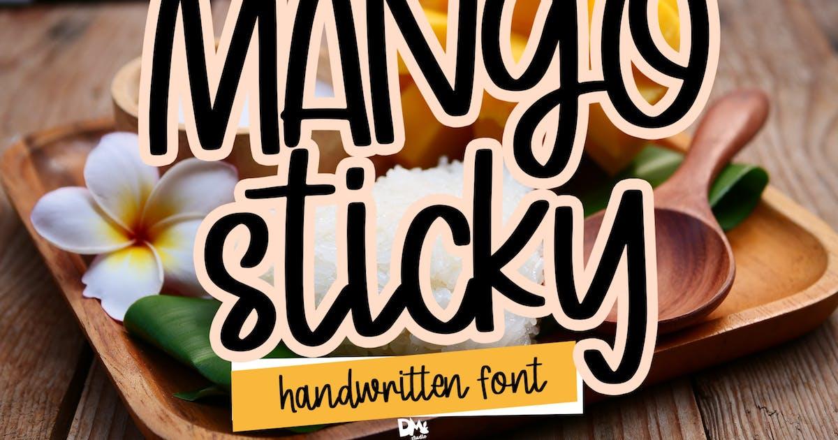 Download Mango Sticky - Handwritten Font by DmLetter