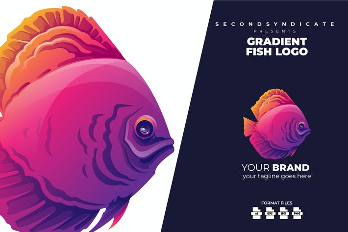 Thumbnail for Gradient Fish Logo