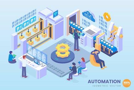 Концепция Вектор автоматизации изометрической промышленности 4.0