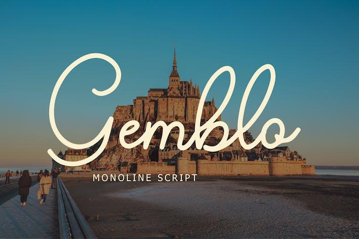 Gemblo Calligraphy Monoline Font