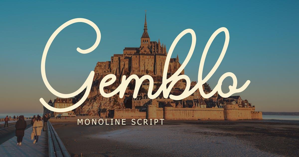 Download Gemblo Calligraphy Monoline Font by Formatika