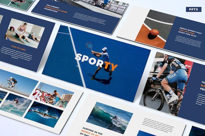 Thumbnail for Спортивный - Powerpoint Шаблон