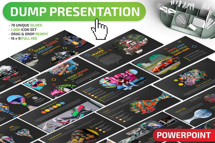 Thumbnail for Dump Powerpoint Presentation Template