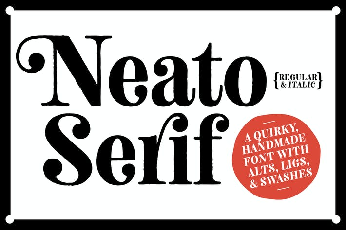 Thumbnail for Neato Serif Font Family
