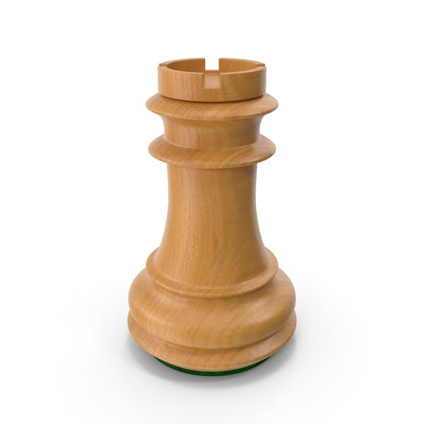 Wooden Chess Rook