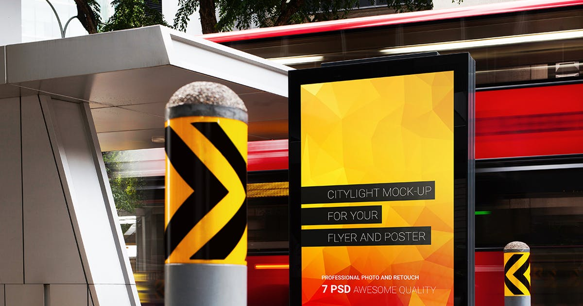 Download 7 Citylight Poster Mock-Up by Temaphoto