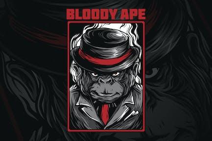 Blutiger Affe
