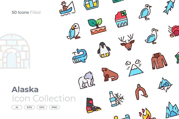 Thumbnail for Alaska Filled Icon