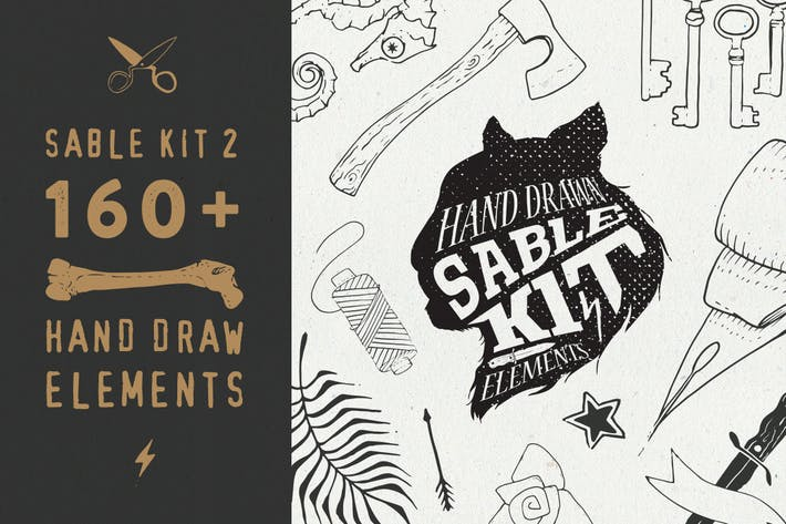 Thumbnail for Sable Kit 2 - hand drawn collection