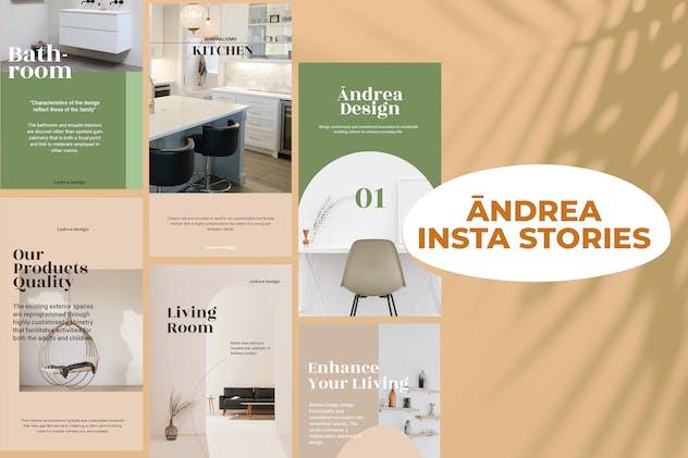 Andrea Design Insta Stories Template