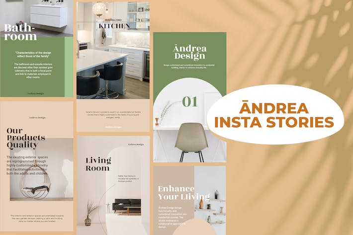 Thumbnail for Andrea Design Insta Stories Template