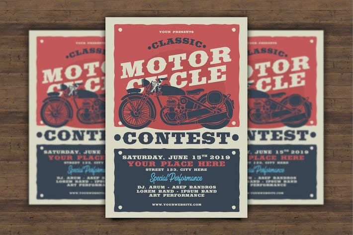 Thumbnail for Classic Motorcycle Contest Flyer