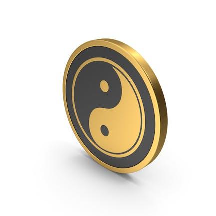 Gold Icon Yin Yang