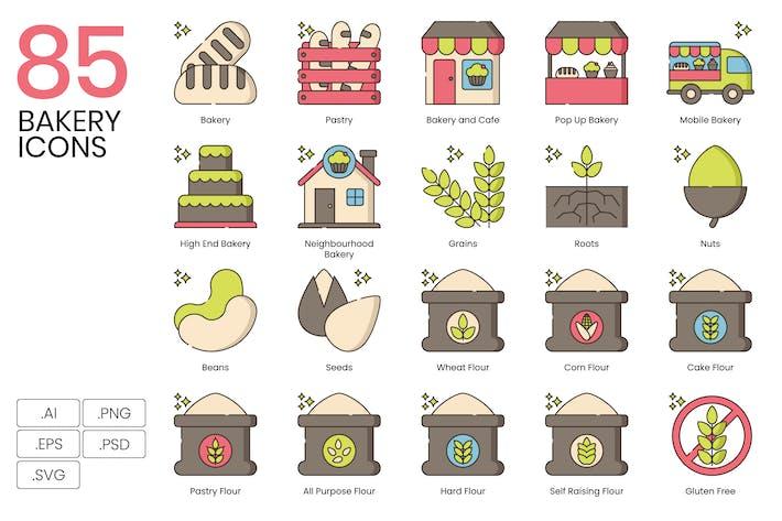 Thumbnail for 85 Хлебобулочные Иконки - Хейзел серии