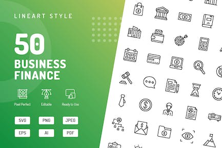 Business Finance Line Icons
