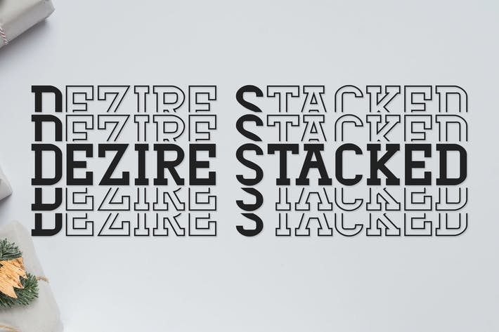 Thumbnail for Dezire Stacked - Mirrored Font
