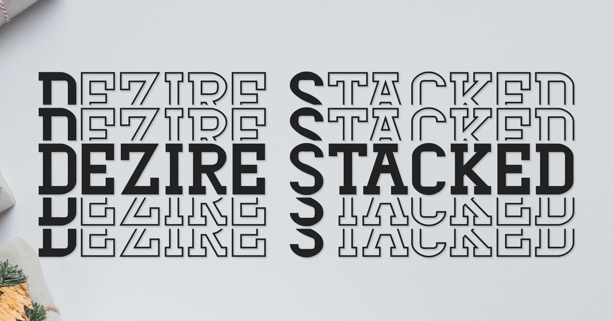 Dezire Stacked - Mirrored Font by Muse-Master
