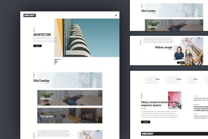 Construxy Graphic Website Template