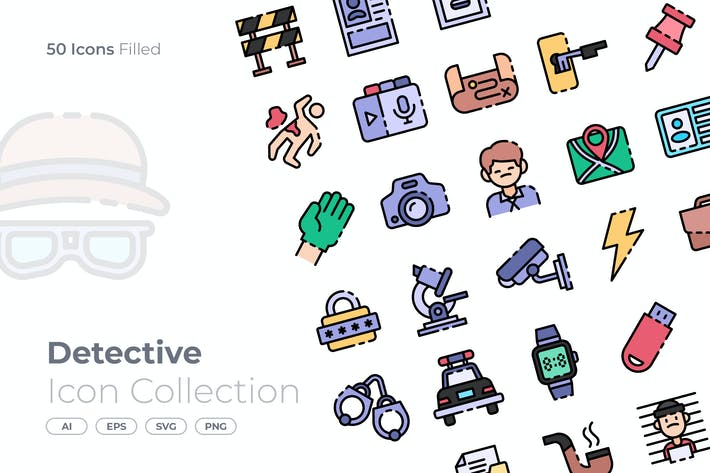 Detective Filled Icon