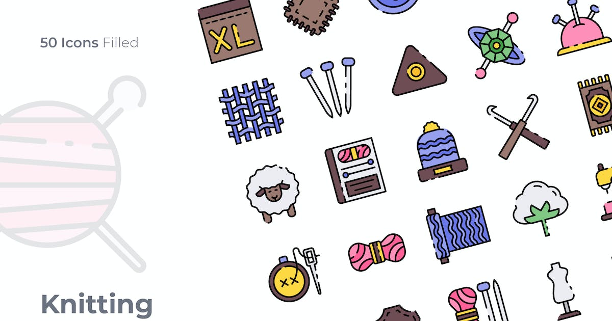 Download Knitting Filled Icon by GoodWare_Std