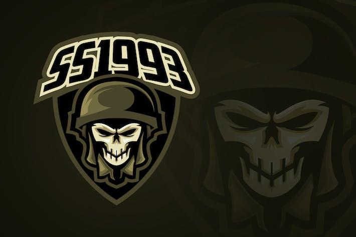 Thumbnail for Evil Soldier Skull Esport Logo