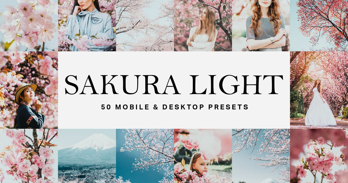 Download 50 Sakura Light Lightroom Presets and LUTs by sparklestock