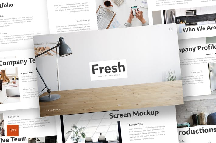 Thumbnail for Fresh - Powerpoint Template