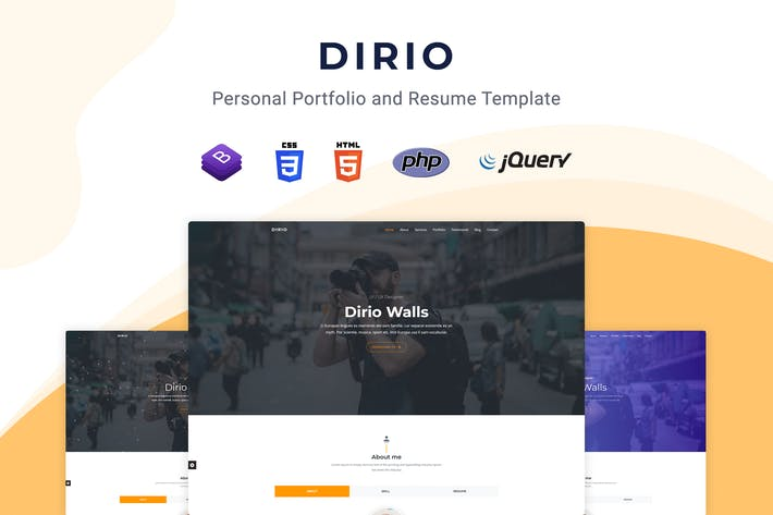 Thumbnail for Dirio - Personal Portfolio and Resume Template