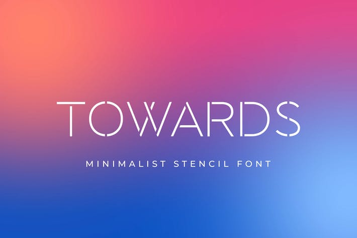 Thumbnail for Towards - Minimalis Stencil