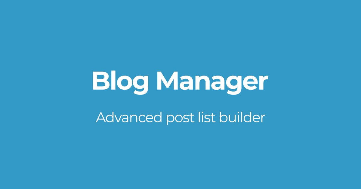 Download Blog Manager by OTWthemes