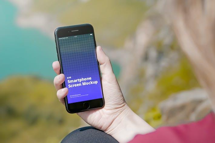 Thumbnail for Phone Mockup SE Mountain Hiking Scenes