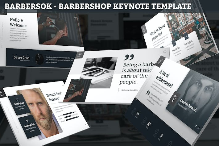 Thumbnail for Barbersok - Barbershop Keynote Template