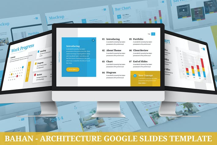 Thumbnail for Bahan - Architecture Google Slides Template