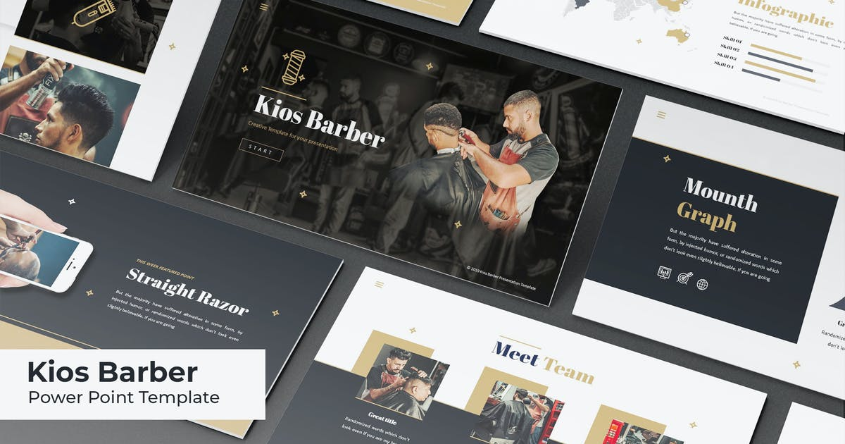 Kios Barber - Powerpoint Template by IanMikraz