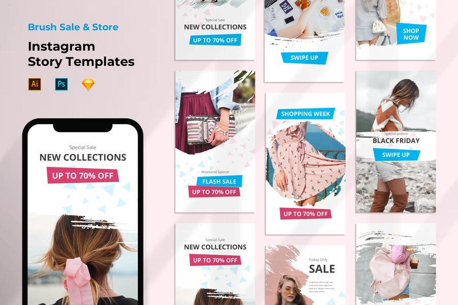 Instagram Story Template Sale Store Shop