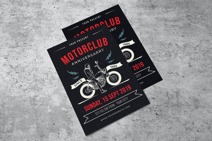 Thumbnail for Motorclub Event Flyer