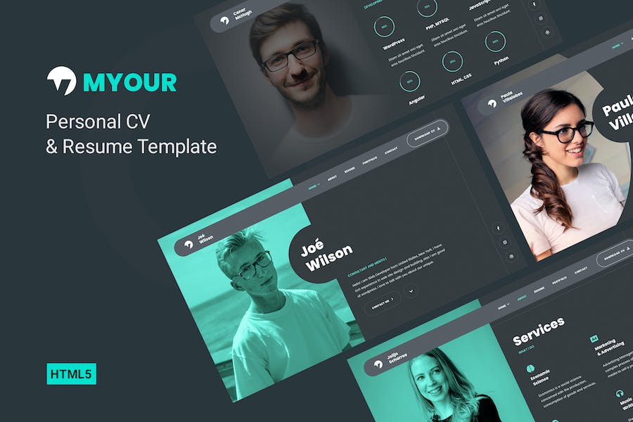 Myour - One Page Resume Template